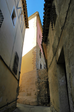cuenca: Narrow street in the old city of Cuenca, Spain