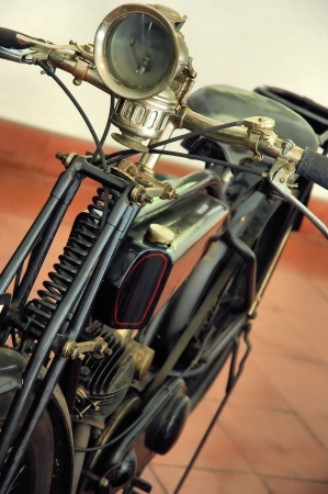 old motorcycle: Old motorcycle