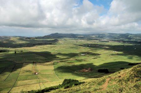 agriculture azores: Landscape Stock Photo