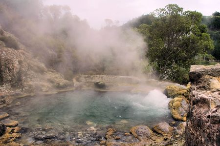 fumarole: Lake with boiling water