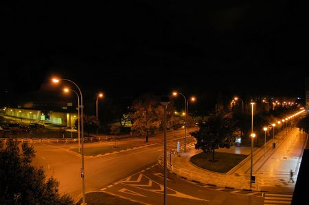 a nocturne: Nocturne urban scene