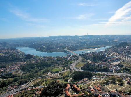 porto: Aerial view over the city of Porto