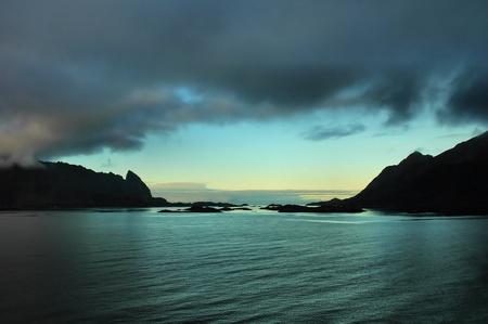 Fjord under the midnight sun