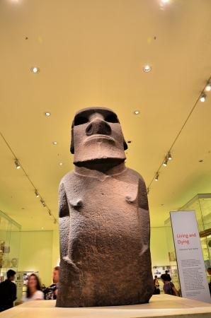 british museum: Easter Island statue in the British Museum Editorial