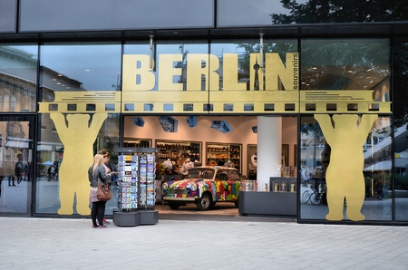 Souvenirs for tourists in Berlin
