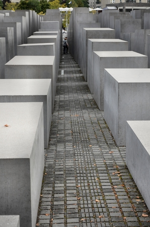 nazism: Memorial in Berlin to the victims of nazism