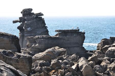 formations: Rock formations in the portuguese coast