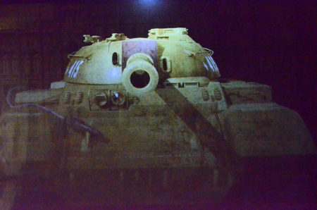 ii: Projected image of a Soviet tank of World War II