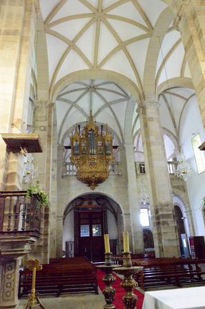 interiors: Interiors of the Cathedral of Miranda do Douro in Portugal Editorial