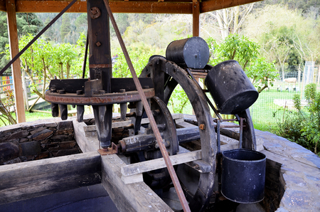 well water: Well water with a draw machine
