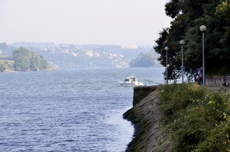 Riverbanks of Douro near the city of Oporto