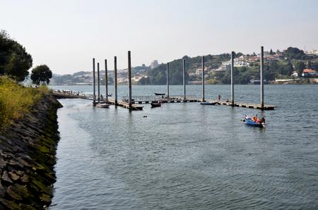 Small on Douro river marina Stock Photo