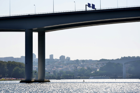 Modern bridges over the Douro river Stock Photo
