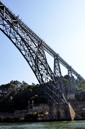 Iron bridge over river Douro Stock Photo