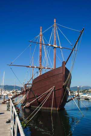 pinta: La Pinta museum at Baiona, Galicia, Spain Stock Photo