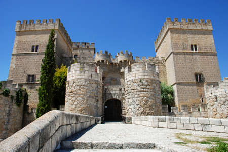 palencia province: fifteenth century medieval fortress, Ampudia  Spain