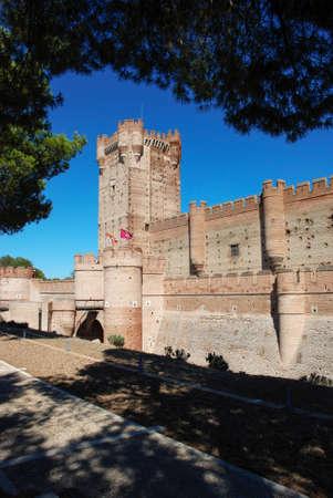 crenellated: La Mota castle, XV century  Medina del Campo, Valldolid  Spain