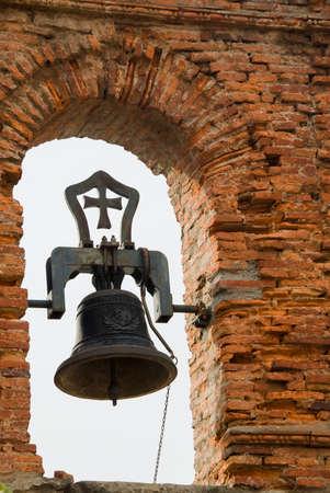 bell in a brick belfry Stock Photo