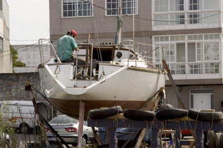 Working in the O Grove shipyard