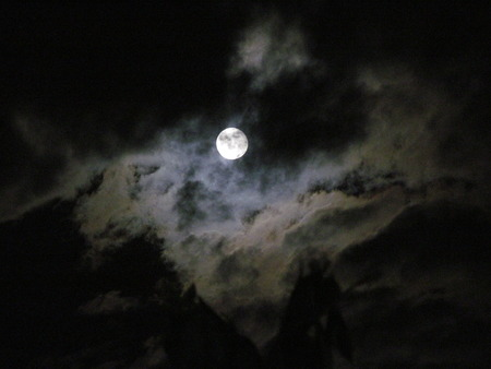 cloudiness: Full moon
