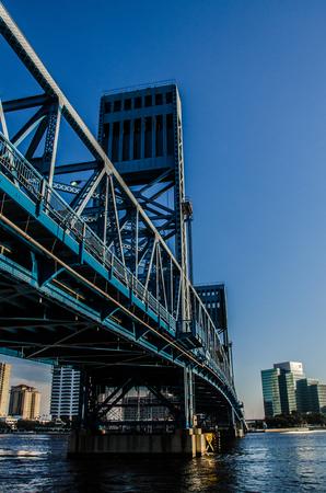 John T. Alsop Bridge, over Saint Johns River Stock Photo
