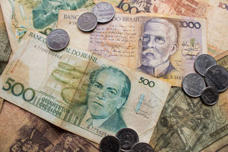Five hundred cruzados and one thousand cruzados notes. Former brazilian currency of late 80s