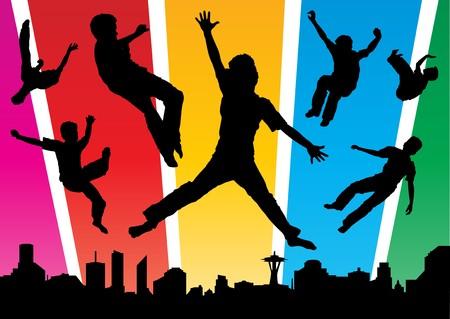 Jumping Boys in de stad