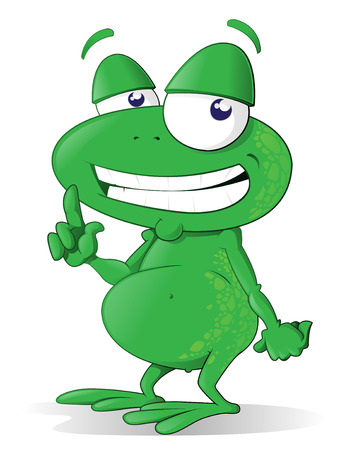 This happy tree frog is happy to point out what ever it is you have to say. Stock Vector - 7927726