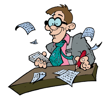 podatek: Goofy wyglÄ…dajÄ…cych ksiÄ™gowego Ilustracja