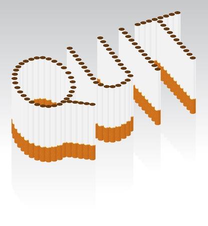 antisocial: cigarettes spelling the word QUIT Illustration