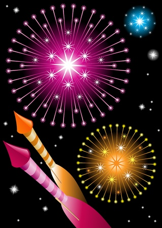 Fireworks and explosions Stock Vector - 10954218