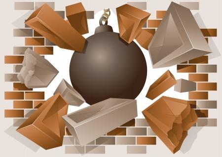Exploding mur i burzenie piłkę