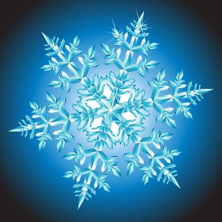 snow crystal: Crystal Snowflake