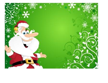 Cartoon Santa Background Stock Vector - 11038930