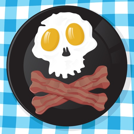 crossbones: Pirates Breakfast Illustration