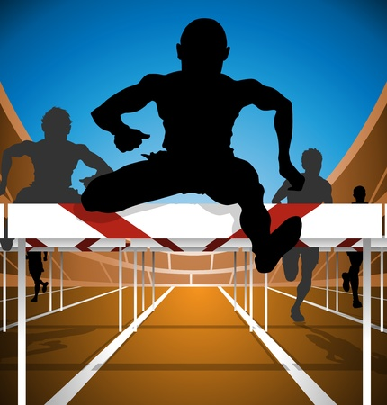 track and field: Hurdle race
