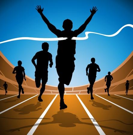 atletismo: Ganador de la carrera