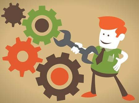 cogs: Individuo Corporativa Corrige la m�quina