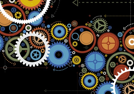 Abstract Cogs Stock Vector - 12496300