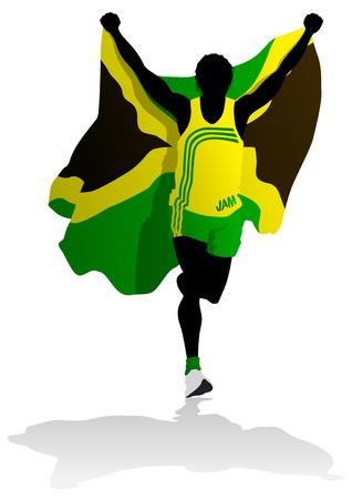 jamaican: Ganador de la carrera de Jamaica Vectores