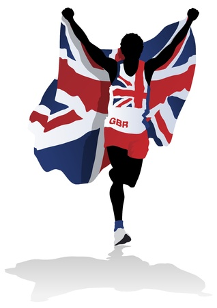 running race: British Race Winner Illustration