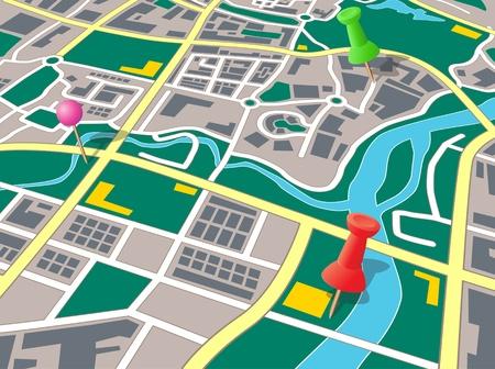 географический: Generic карта города