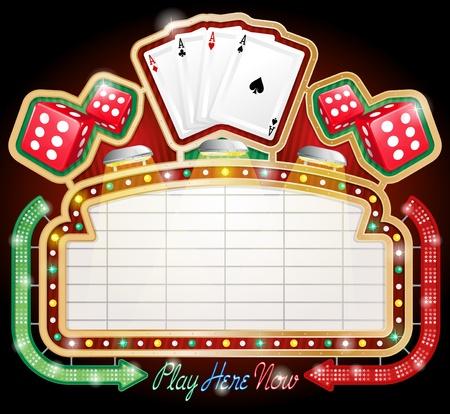 Znak Casino Ilustracja