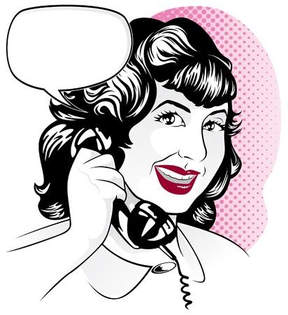 receptionist: Girl on Telephone