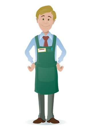 sales clerk: Shopkeeper Illustration