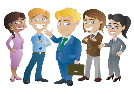 business woman standing: Group of Business and Office workers