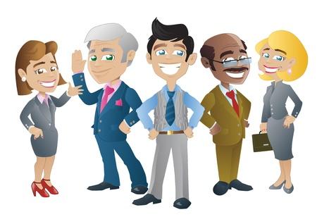 reunion de trabajo: Gente de negocios Vectores