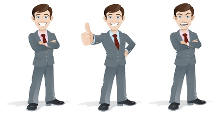 Business Man in Poses Vector