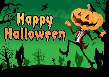 Happy Halloween Postcard Stock Vector - 15687438