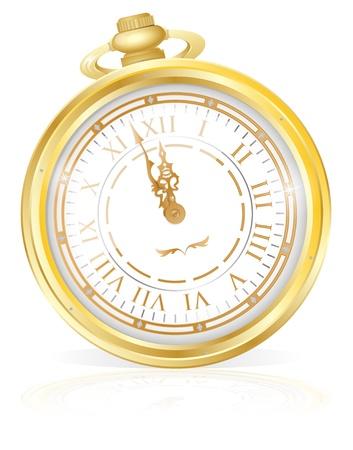 midnight hour: Gold Pocket Watch